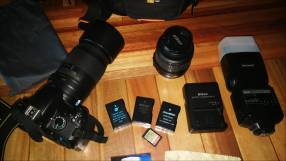 Nikon D3200 y teleobjetivo Nikon 55-300 mm